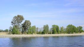 Viaggio della barca sul canale di Piast video d archivio
