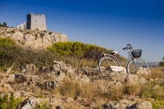 Viaggio della bicicletta Fotografia Stock