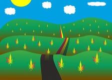 Viaggio della cannabis Fotografie Stock Libere da Diritti