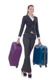 Viaggio della donna di affari Fotografie Stock