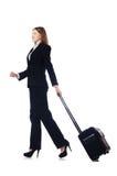 Viaggio della donna di affari Immagini Stock