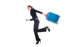 Viaggio della donna di affari Immagini Stock Libere da Diritti