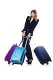 Viaggio della donna di affari Immagine Stock Libera da Diritti