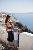 Viaggio della famiglia ad Europa fotografia stock