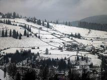 Viaggio della montagna in Vatra Dornei Fotografia Stock Libera da Diritti