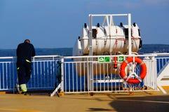 Viaggio della nave da crociera, Langesund, Norvegia Immagini Stock