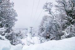 Viaggio della neve Fotografie Stock Libere da Diritti