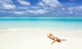 Viaggio delle Maldive della costa al paradiso Immagini Stock