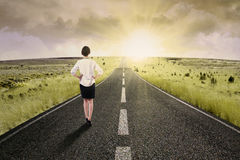 Viaggio di affari lungo per successo Fotografia Stock Libera da Diritti