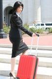Viaggio di affari: Viaggio della donna Fotografie Stock Libere da Diritti