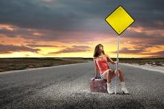 Viaggio di Autostop Fotografia Stock