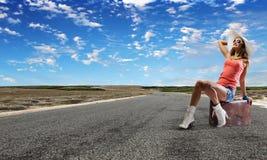 Viaggio di Autostop Fotografie Stock