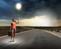 Viaggio di Autostop Immagini Stock Libere da Diritti
