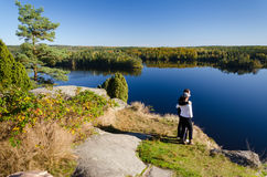 Viaggio di autunno Immagini Stock