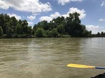 Viaggio di canoa Immagini Stock Libere da Diritti