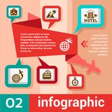 Viaggio di concetto di Infographic Fotografia Stock Libera da Diritti
