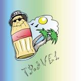 Viaggio di estate della palma della bottiglia Royalty Illustrazione gratis
