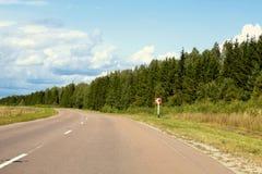 viaggio di estate della strada della strada principale Fotografie Stock Libere da Diritti