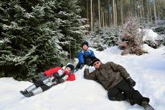 Viaggio di inverno Immagini Stock