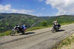 Viaggio di motociclismo di avventura Fotografia Stock Libera da Diritti