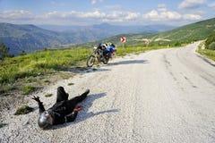Viaggio di motociclismo di avventura immagini stock