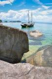 Viaggio di navigazione attraverso le isole tropicali. Rio, Brasile. Americ del sud Immagini Stock