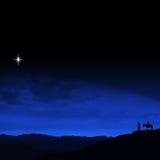 Viaggio di notte di Natale Fotografie Stock