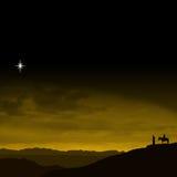 Viaggio di notte di Natale Fotografie Stock Libere da Diritti