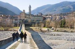 Viaggio di Piacenza Emilia Romagna Italia del ponte di Bobbio Fotografie Stock