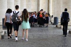 Viaggio di scuola Fotografie Stock