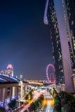 Viaggio di Singapore della sabbia della baia del porticciolo Fotografia Stock