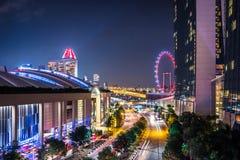 Viaggio di Singapore della sabbia della baia del porticciolo Fotografia Stock Libera da Diritti