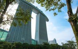 Viaggio di Singapore della sabbia della baia del porticciolo Immagine Stock Libera da Diritti