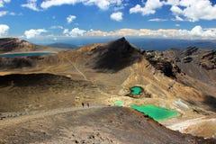 Viaggio di Tongariro Fotografia Stock