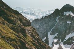 Viaggio di vista aerea del paesaggio della gamma di Rocky Mountains Fotografia Stock Libera da Diritti
