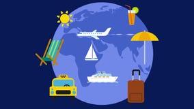 Viaggio e viaggio intorno al mondo stock footage
