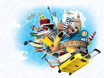 Viaggio e turismo Fotografie Stock Libere da Diritti
