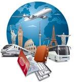 Viaggio e viaggio Immagini Stock
