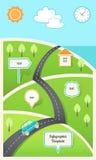 Viaggio, festa, modello di Infographic del programma di strada Fotografie Stock