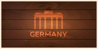 Viaggio in Germania, orizzonte di Berlin Poster Reichstag Illustrazione di vettore Fotografia Stock