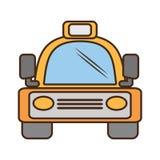 Viaggio giallo del trasporto terrestre del vehicule del bus Fotografie Stock Libere da Diritti