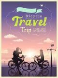 Viaggio I di viaggio delle biciclette e la mia amica Fotografia Stock