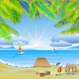 Viaggio. Il mare, yacht, palme. Congedo. Fotografia Stock