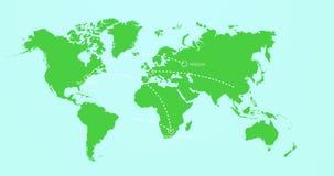 Viaggio intorno ai nomi ed alla profondità di campo della città della mappa di mondo illustrazione di stock