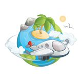 Viaggio intorno al mondo Immagini Stock Libere da Diritti