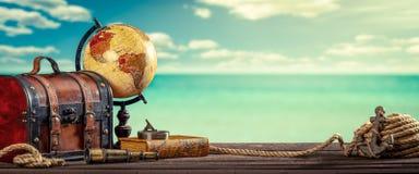 Viaggio intorno al mondo d'annata fotografie stock