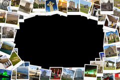 Viaggio in Irlanda Collage fatto delle polaroid Fotografie Stock