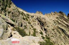 viaggio nei montains della Corsica Fotografia Stock Libera da Diritti
