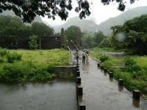 Viaggio nel giorno della pioggia Fotografia Stock