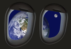 Viaggio nello spazio Fotografie Stock Libere da Diritti